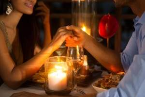 couple reconnecting on a date night